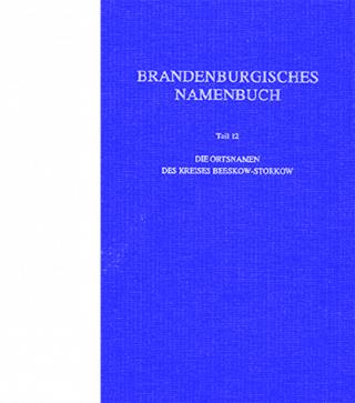 Cover Brandeburgisches Namenbuch Band 12